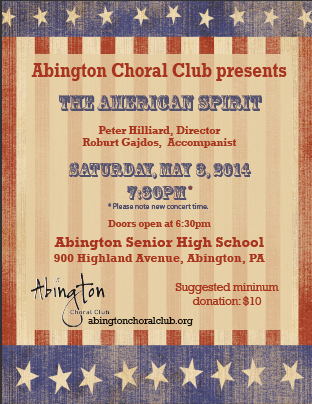 ACC Concert Poster, Spring 2014
